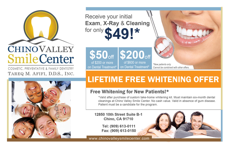 Dental Discount | Chino Valley Smile Center in Chino, cA